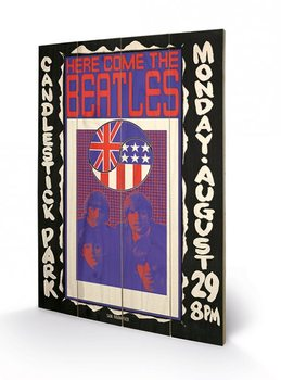 Poster su legno The Beatles - Here Come The Beatles