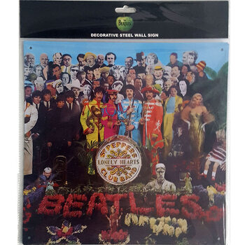 The Beatles - Sgt Pepper Metalen Wandplaat