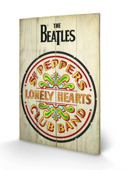 Poster su legno The Beatles Sgt Peppers
