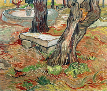 The Bench at Saint-Remy, 1889 Festmény reprodukció