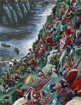 Εκτύπωση έργου τέχνης  The British soldiers make the arduous ascent of the Heights of Abraham to take Quebec