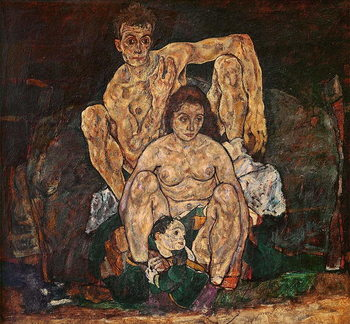 The Family, 1918 Kunstdruck
