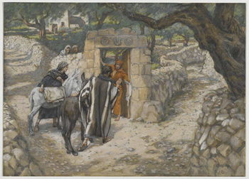 The Foal of Bethpage, illustration from 'The Life of Our Lord Jesus Christ', 1886-94 Festmény reprodukció