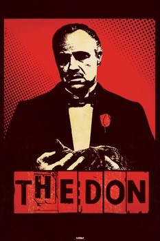 THE GODFATHER - the don - плакат (poster)
