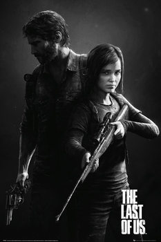 The Last Of Us - Black and White Portrait плакат