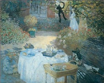 The Lunch (in the Garden), 1872 Festmény reprodukció