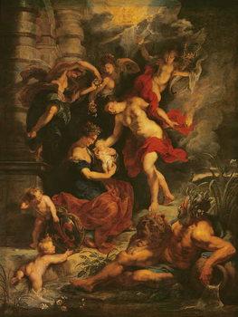The Medici Cycle: The Birth of Marie de Medici (1573-1647) 26th April 1573, 1621-25 Festmény reprodukció