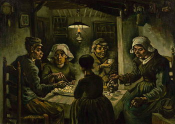 The Potato Eaters, 1885 Festmény reprodukció