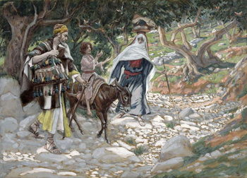 Εκτύπωση έργου τέχνης  The Return from Egypt, illustration for 'The Life of Christ', c.1886-94