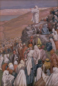 The Sermon on the Mount, illustration for 'The Life of Christ', c.1886-96 Festmény reprodukció
