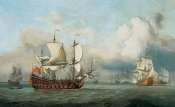 The Ship English Indiaman  Reproduction d'art