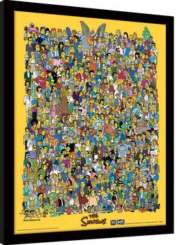 Πλαισιωμένη αφίσα The Simpsons - Characters