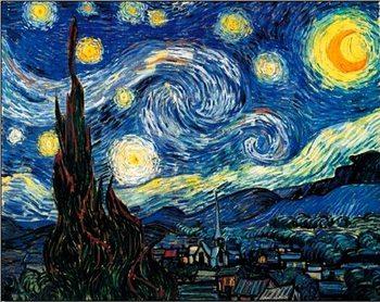 Εκτύπωση έργου τέχνης The Starry Night, 1889
