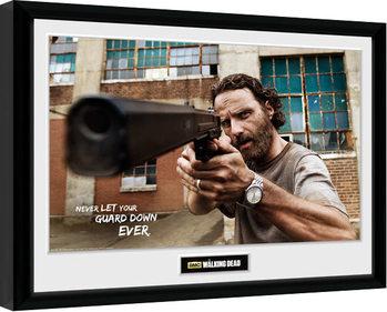 Πλαισιωμένη αφίσα  The Walking Dead - Rick Gun