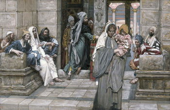The Widow's Mite, illustration for 'The Life of Christ', c.1884-96 Festmény reprodukció