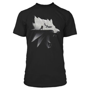 Tricou The Witcher 3: Wild Hunt - Wolf Silhouette