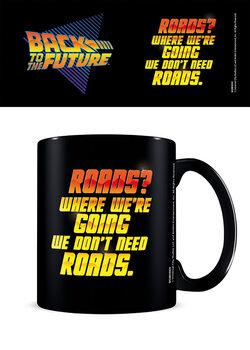 Mugg Tillbaka till framtiden - We Don't Need Roads