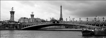 Paris - Pont Alexandre-III and Eiffel tower Reprodukcija umjetnosti