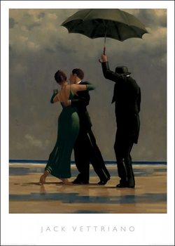 Jack Vettriano - Dancer In Emerald Reprodukcija