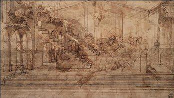 Study of The Adoration of the Magi Reprodukcija