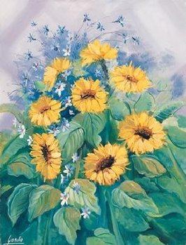 Sunflowers Tisk