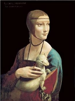 The Lady With the Ermine Reprodukcija