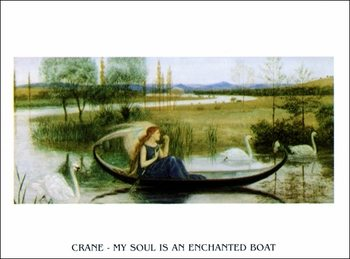 W.Crane - My Soul Is An Enchanted Boat Reprodukcija