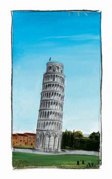 World Landmark Italy Tisk
