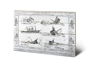 Bild auf Holz Titanic - Sinking