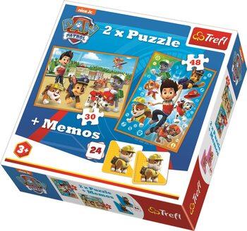 Puzzle Tlapková patrola 2v1 + pexeso