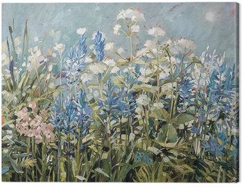 Anne-Marie Butlin - Blue Summer Border Tableau sur Toile