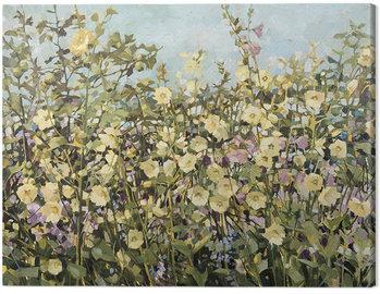 Tableau sur Toile Anne-Marie Butlin - Yellow Hollyhocks