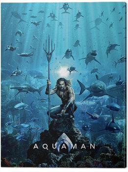 Tableau sur Toile Aquaman - Teaser