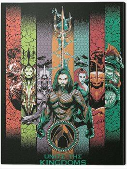 Tableau sur Toile Aquaman - Unite the Kingdoms