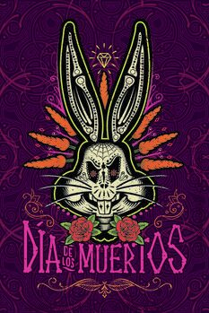 Tableau sur Toile Bugs Bunny - Le jour des morts