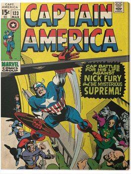 Tableau sur Toile Captain America - Superman