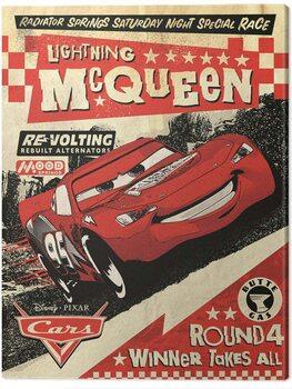 Tableau sur Toile Cars - Lightning Mcqueen - Race