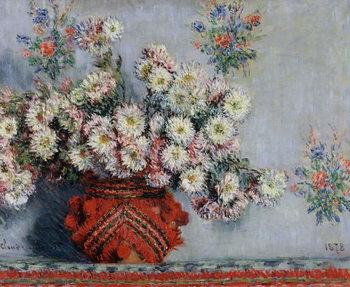 Chrysanthemums, 1878 Tableau sur Toile