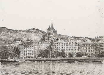 Tableau sur Toile City of Geneva, 2011,