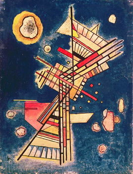 Tableau sur Toile Composition with a Blue Background, 1927
