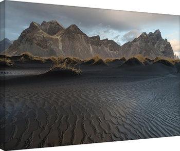 David Clapp - Stokksnes Beach, Iceland Tableau sur Toile