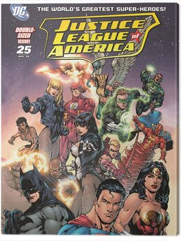 Tableau sur Toile DC Justice League - Group Cover