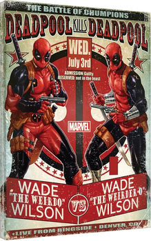 Tableau sur Toile Deadpool - Wade vs Wade