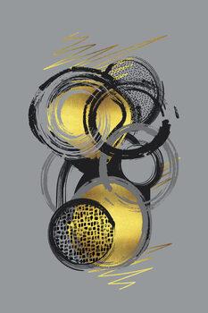 Tableau sur Toile Dynamic Art No. 1 gold - Life Stages