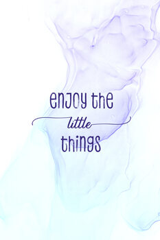 Tableau sur Toile Enjoy the little things   floating colors