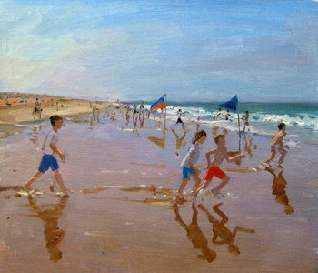 Tableau sur Toile Flags and reflections, Montalivet