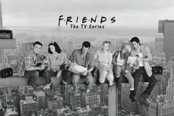 Tableau sur Toile Friends - Déjeuner au sommet d'un gratte-ciel