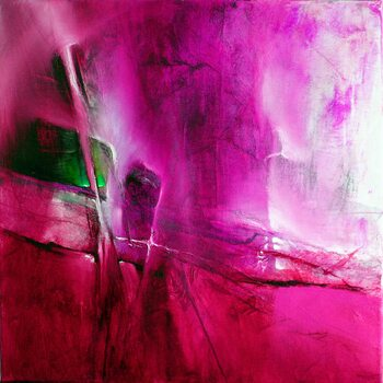 Tableau sur Toile green emerald in pink
