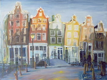 Tableau sur Toile Houses of Amsterdam, 1999