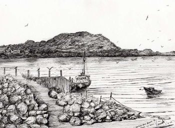 Iona from Mull Scotland, 2007, Tableau sur Toile